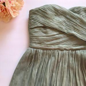 J.Crew Arabelle Silk Chiffon Strapless Dress  for sale